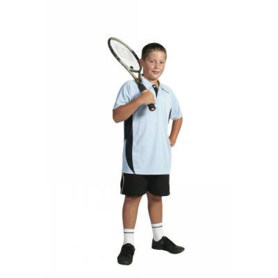 175gsm Polyester Kids Cool-Breathe Side Panel Polo Shirt