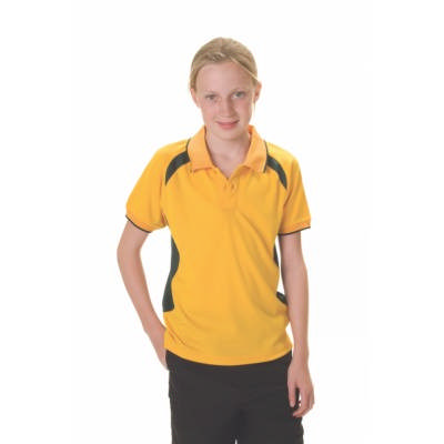 175gsm Polyester Kids Air Flow Contrast Raglan Mesh Panel Polo, Shirt