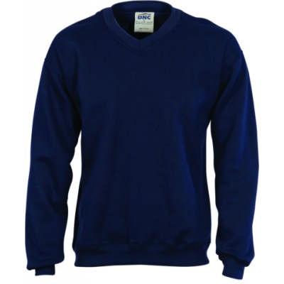 V-Neck Fleecy Sweatshirt (Sloppy Joe)