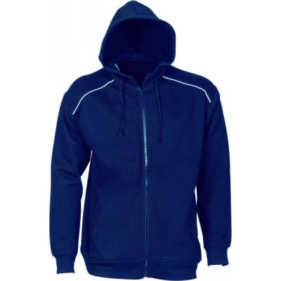 300gsm Polyester Cotton Mens Contrast Piping Fleecy Hoodie.