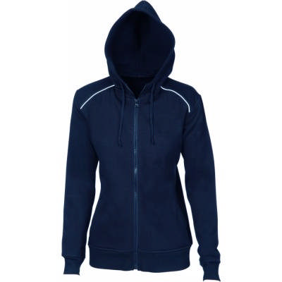 300gsm Polyester Ladies Contrast Piping Fleecy Hoodie.