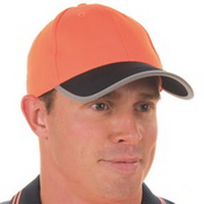 HiVis Two Tone Cap with Reflective Trim