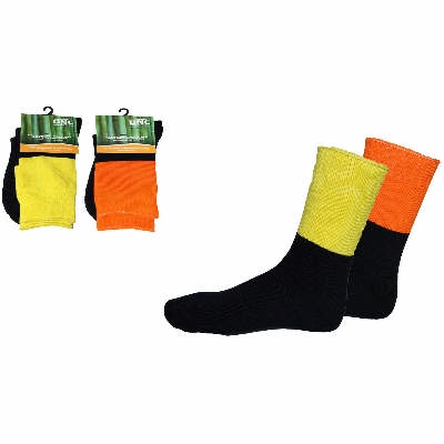 Extra Thick Hi-Vis 2 tone Bamboo Socks. In Stock