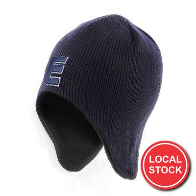 Local Stock - Acrylicpolar Fleece Beanie With Ear Flap
