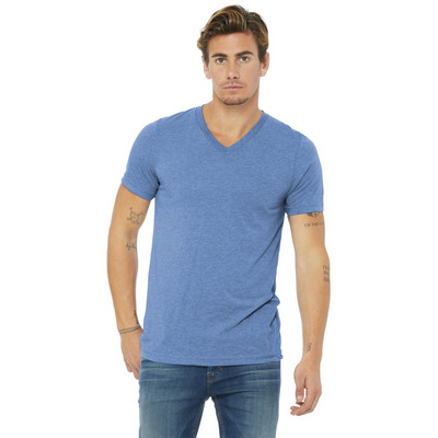 BELLA+CANVAS  Unisex Triblend Short Sleeve V-Neck Te. BC3415 (BC3415_ENT)