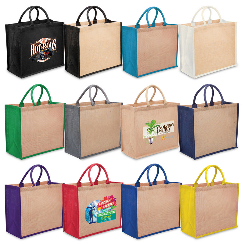 Eco Jute Tote with wide gus