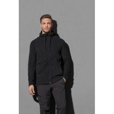 Mens Active Hooded Fleece Jacket