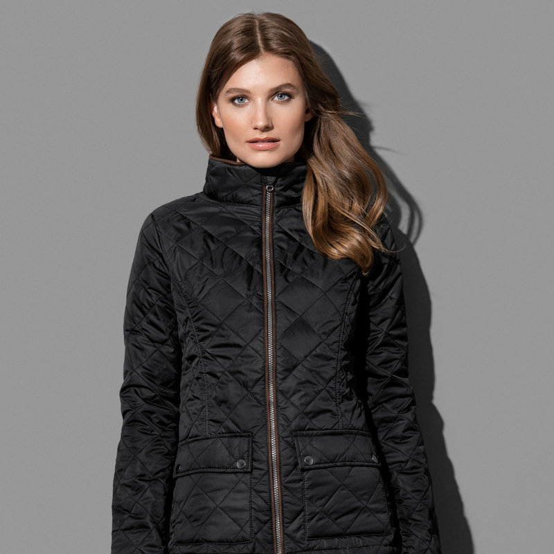 Womens Active Quilted Jacke