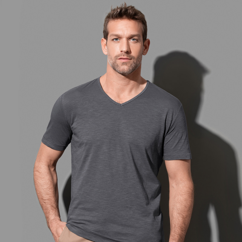 Mens Shawn Slub V-neck (ST9410_LEGEND)