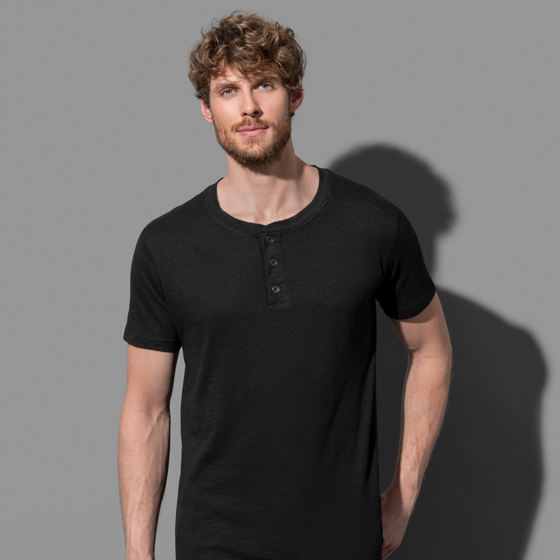 Mens Shawn Henley T-shirt (ST9430_LEGEND)