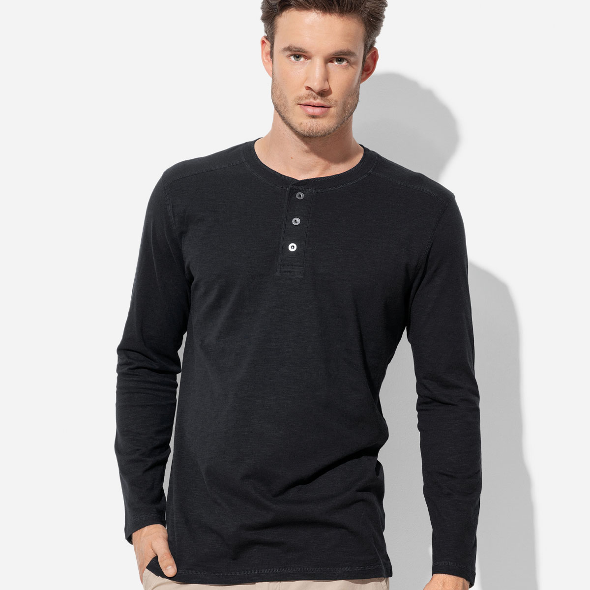 Mens Shawn Henley Long Sleeve (ST9460_LEGEND)
