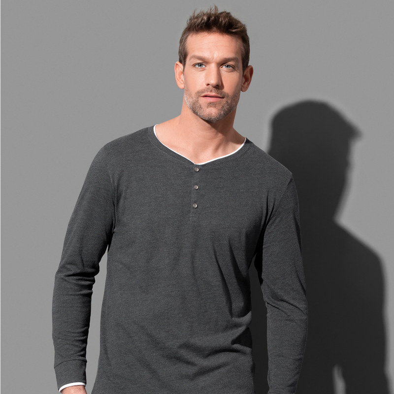 Mens Luke Henley Long Sleeve (ST9860_LEGEND)