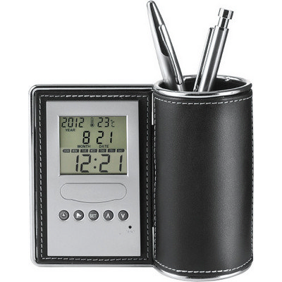Desk tidy and clock-3685_EUB 3685_EUB