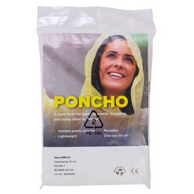 Bio-degradable PE poncho (8281_EUB)