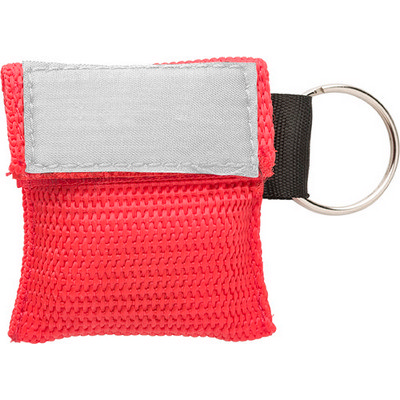 Polyester pouch with CPR mask (8840_EUB)