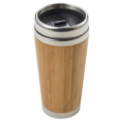 Bamboo and stainless steel travel cup (8947_EUB)