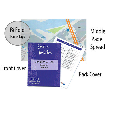 Bi Fold Name Tag Personalised Program
