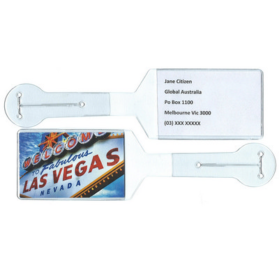 Flexible PVC Fully Produced Luggage Tag Clear