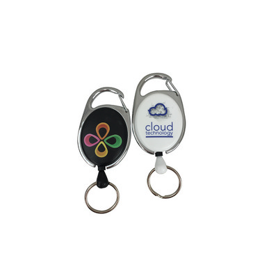 Deluxe Oval Reel with Keyring Local Digital Print