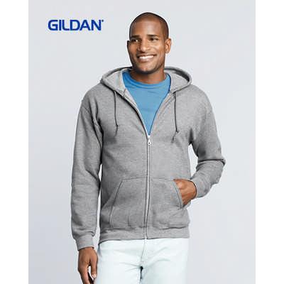 Gildan Heavy Blend Adult Full Zip Hooded Sweatshirt Colours (18600_COLOURS_GILD)