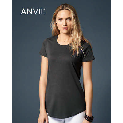 Anvil Womens Black Tee Colours