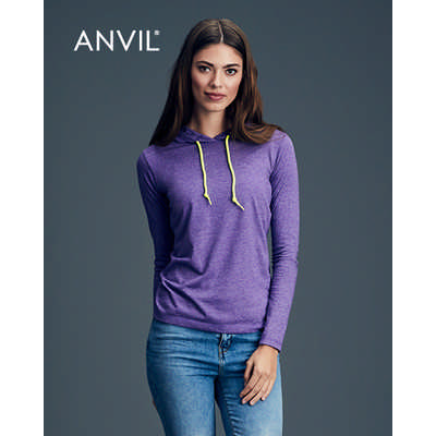 Anvil Womens Lightweight Long Sleeve Hooded Tee Colours (887L_COLOURS_GILD)