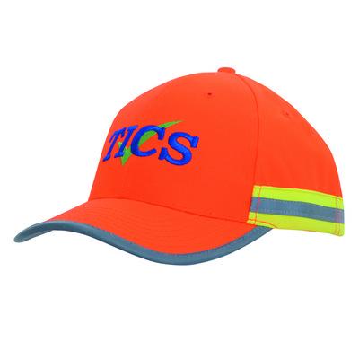Hi Viz  cap with reflectice tape
