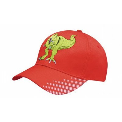 Breathable Poly Twill Cap with peak flash print