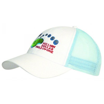 Brushed Heavy Cotton Cap With Mesh Back