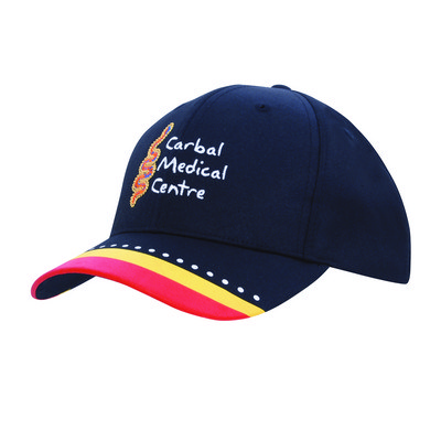 Poly Twill Cap with multi c