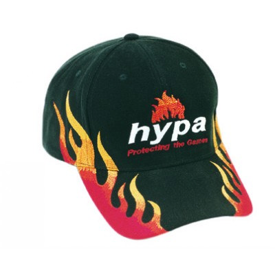 Brushed Heavy Cotton Cap With Double Flame Embroidery