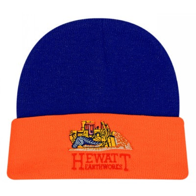 Acrylic Beanie Hi-Vis Turn-Up