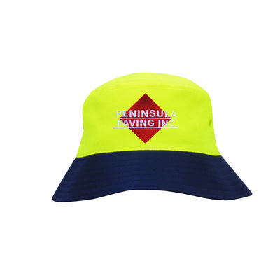 Breathable P/Twill Hi-Vis Safety Bucket Hat