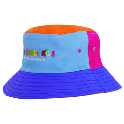 Multi-Coloured Breathable P/Twill Bucket Hat