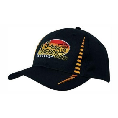 6PNL Breathable Poly Twill Cap w/- Embroidered Checks