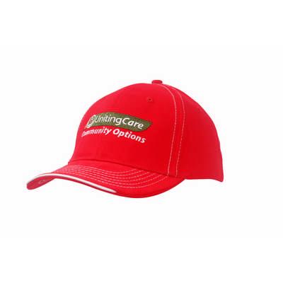 6PNL BHC Cap w/- Contrast Stitching & Sandwich Peak Trim