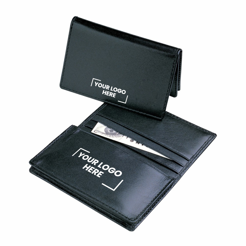 Leather Pocket Business Card Holder  - (printed with 1 colour(s)) D516_PB