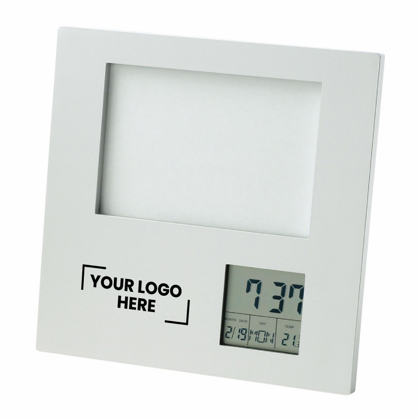 Photo Frame with Clock| Date| Temperature (D518_PB)