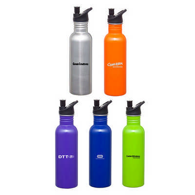 Carnival S/Steel Drink Bottle  - (printed with 1 colour(s)) D534_PB