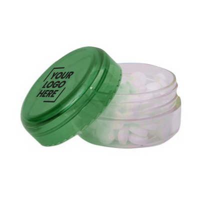 Translucent Mint Jar