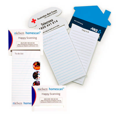 Standard Magnet - 95mm x 70mm Pad - 75mm x 140mm House Shaped To Do Lists