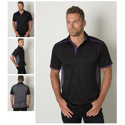 Mens Cooldry Heather and Sports Interlock Fabric Polo