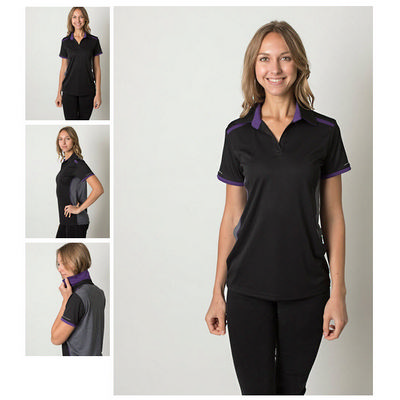 Ladies Cooldry Heather and Sports Interlock Fabric Polo