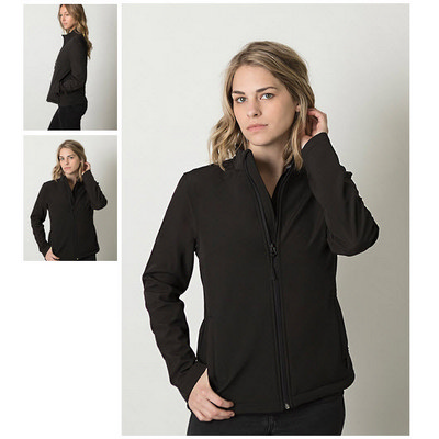 Ladies  3 Layer Soft Shell Full Zip Jacket