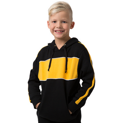 Kids 65% Polyester 35% Combed Cotton Anti Pill Hoodie