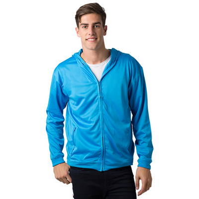 Adults 100% Polyester Cooldry Ultra Light Full Zip Hoodie