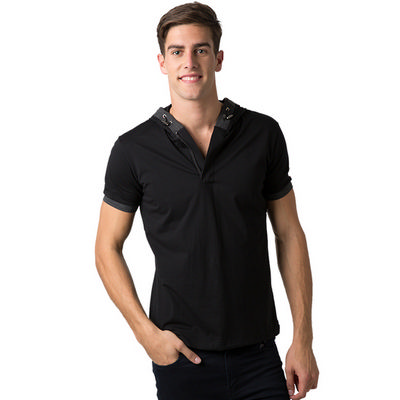 Adults 95% Cotton 5% Spandex Short Sleeve Fashion Hoodie