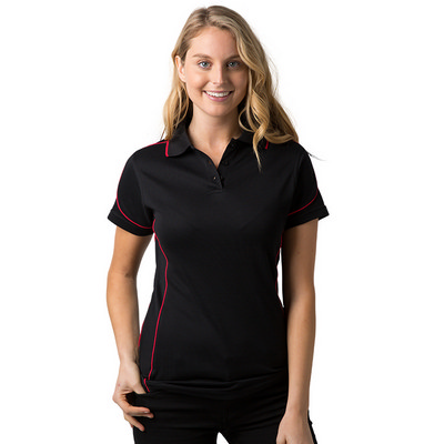 Ladies 80% Combed Cotton 20% Cooldry Baby Waffle Knit Polo