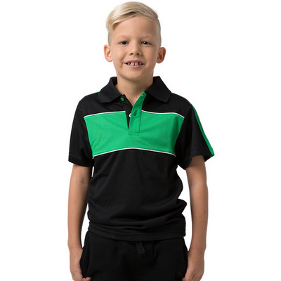 Kids 100% Polyester Cooldry Pique Knit Polo