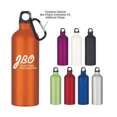 ALUD03 Aluminium Sports Bottle 750ml With Carabiner